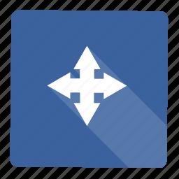 arrow, forward, move, next, shape icon