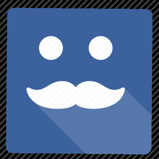 account, grid, mustache, user icon