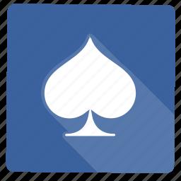 cards, casino, game, schoppen icon