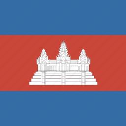 cambodia, square icon