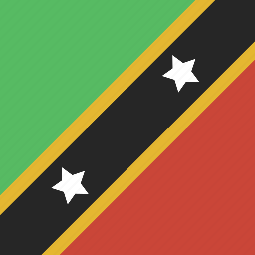 and, kitts, nevis, saint, square icon