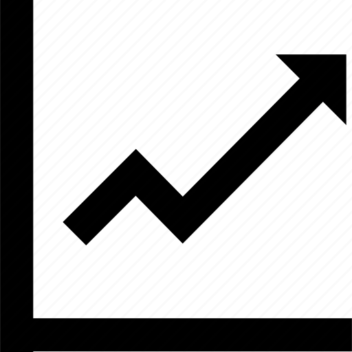 analytics, arrow, chart, up icon