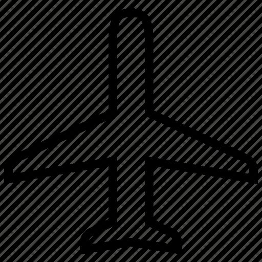 airport, big, flight, long, plane, travel icon
