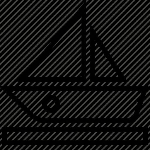 boat, sail, transport, travel icon