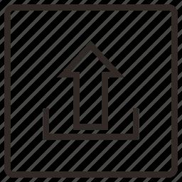 arrow, data stream, network, up, upload icon