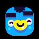 baby, blue, emoji, emoticon, smile, smiley icon