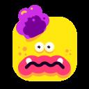 brain, emoji, emoticon, smiley, yellow icon