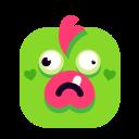 confused, emoji, emoticon, green, smiley icon