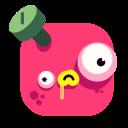 emoji, emoticon, monster, red, smiley, squaremoji, squaremojis icon