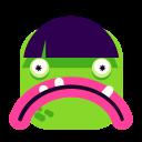 emoji, green, smiley, surprised icon