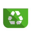 bin, full, recycling icon