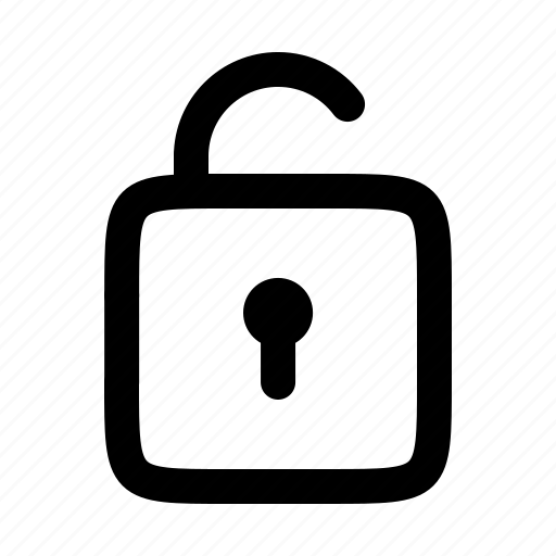 lock, password, protection, safe, secure, unlocked icon