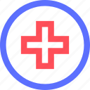 cross, heal, health, hospital, medical, medicine, sign icon