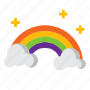 atmospheric, cloud, rainbow, spectrum icon