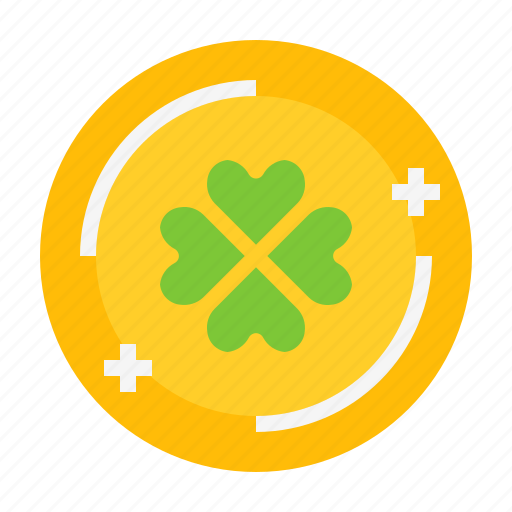 Clover, coin, gold, leaf, shamrock, st. patrick icon - Download on Iconfinder