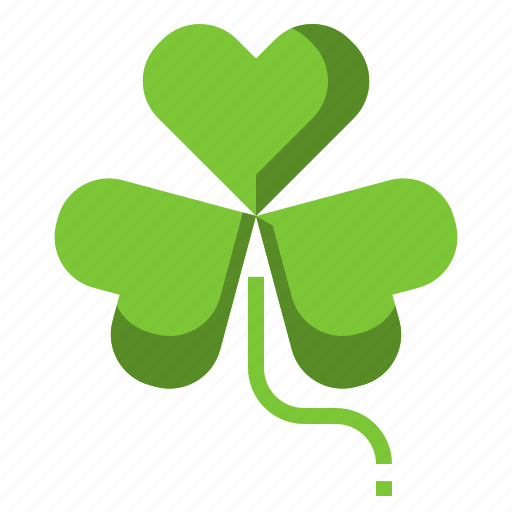 Clover Leaf Luck Shamrock St Patrick Icon