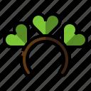 clover, costume, headband, luck, st.patrick icon