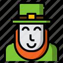 green, hat, irish, leaf, leprechaun, shamrock, st. patrick's icon