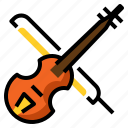 fiddle, instrument, music, musical, orchestra, string, violin icon