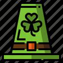 clover, green, hat, luck, shamrock, st. patrick icon