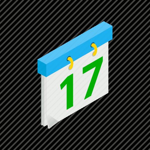 calendar, date, day, ireland, irish, isometric, patrick icon