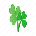 clover, day, green, holiday, isometric, leaf, patrick icon