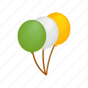 balloon, day, green, ireland, isometric, patrick, st icon