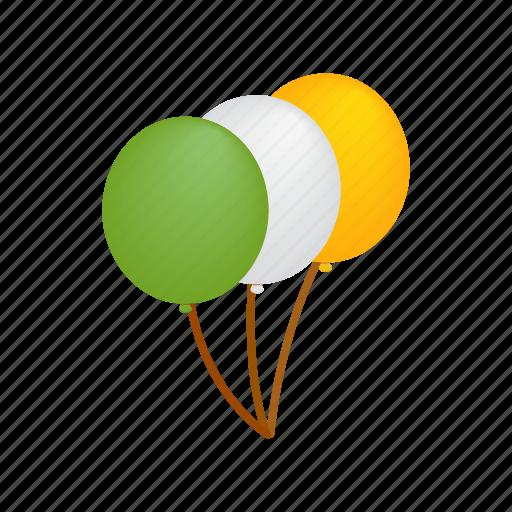 balloon, day, green, ireland, isometric, patrick, st icon