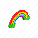 coin, day, gold, holiday, isometric, patrick, rainbow