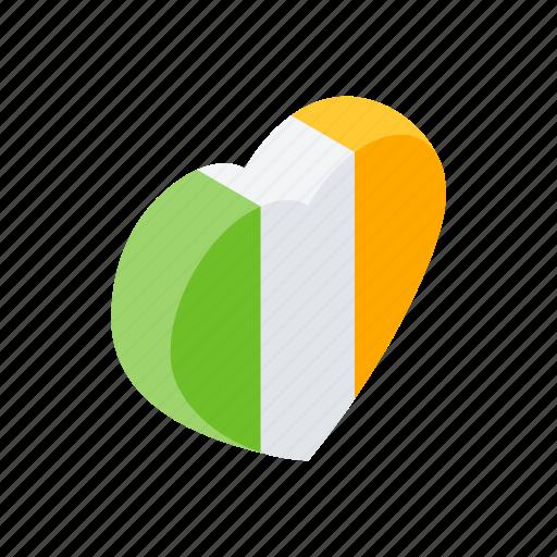 decoration, heart, ireland, irish, isometric, patrick, st icon