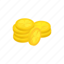 coin, day, gold, holiday, irish, isometric, wealth