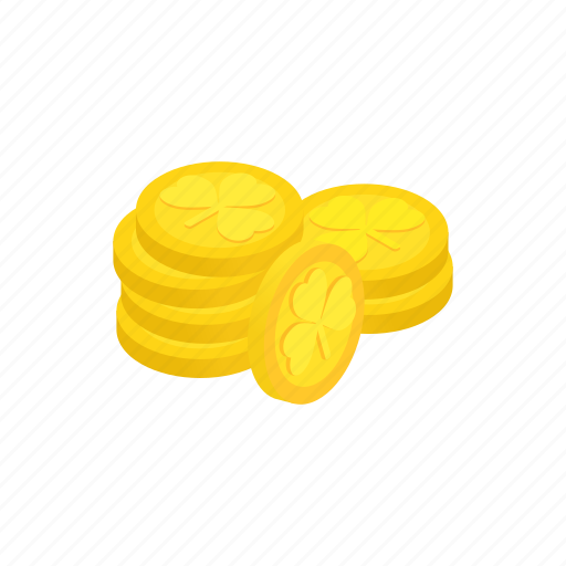 coin, day, gold, holiday, irish, isometric, wealth icon