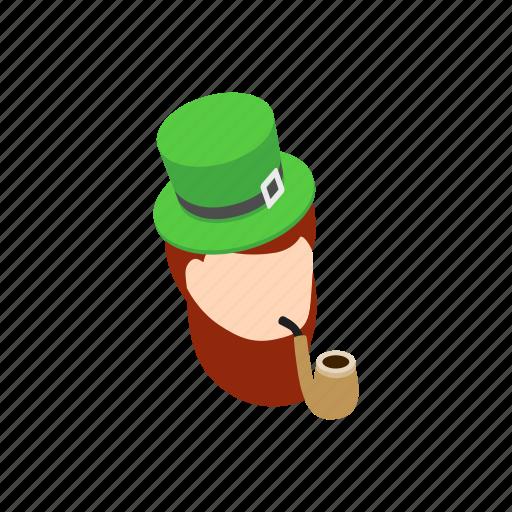 clover, green, irish, isometric, leprechaun, patrick, saint icon