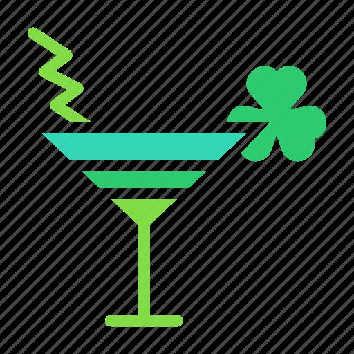 cocktail, day, drink, mocktail, patricks, saint, shamrock icon