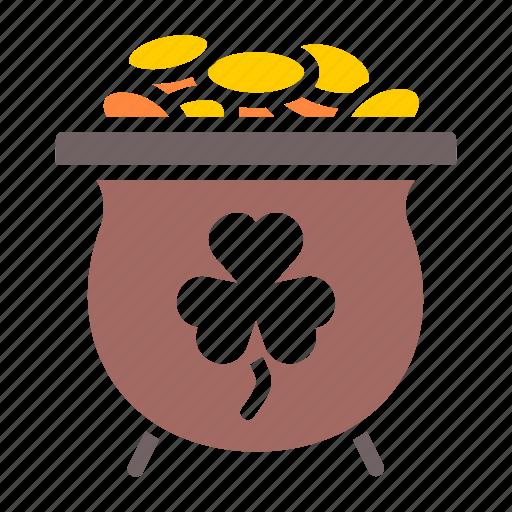 Fortune, gold, luck, patricks, pot, saint, treasure icon - Download on Iconfinder