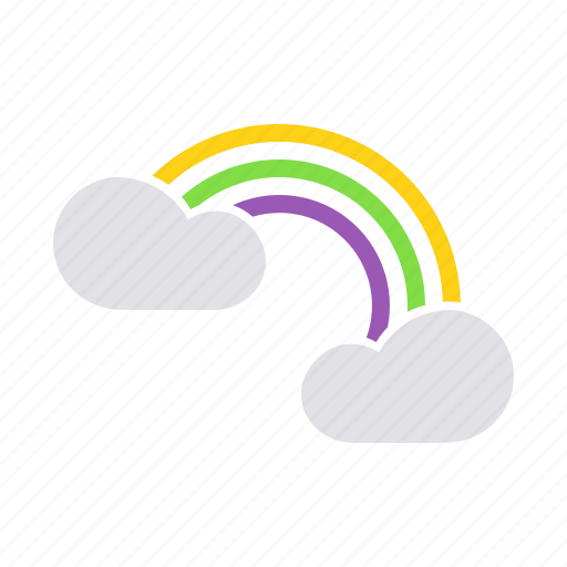 charm, fortune, happy, joy, luck, lucky, rainbow icon