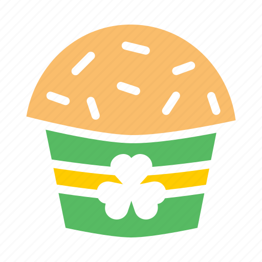 Cake, celebrate, day, festival, muffin, patricks, saint icon - Download on Iconfinder