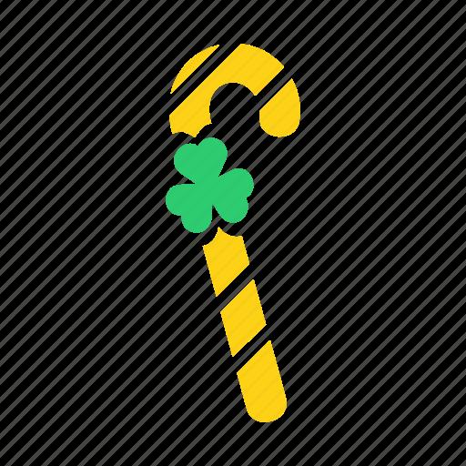Leprechaun, patricks, saint, stick, walking, candy, shillelagh icon - Download on Iconfinder