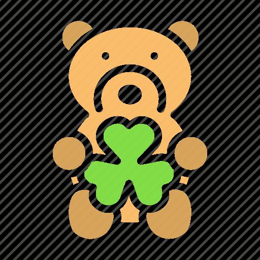 Bear, day, gift, patricks, saint, shamrock, teddy icon - Download on Iconfinder