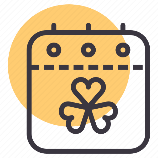 Calendar, date, festival, patricks, saint, shamrock, event icon - Download on Iconfinder