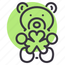 bear, day, gift, patricks, saint, shamrock, teddy icon