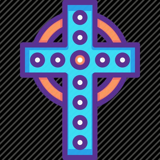Ceilidh, cross, festival, irish, patricks, saint, procession icon - Download on Iconfinder