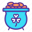 fortune, gold, luck, patricks, pot, saint, treasure icon