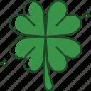 leaf, clover, four leaf clover, shamrock, st patricks day, luck, celebration