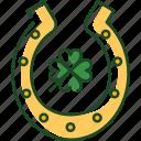 horse, shoe, horse shoe, st patricks day, horseshoe, luck, shamrock