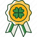 badge, shamrock, st patricks day, ireland, irish, luck, gold