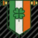 banner, ireland, flag, irish, shamrock, celebration, st patricks day