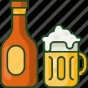 beer, drink, alcohol, glass, bottle, beverage, bar