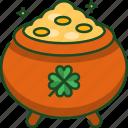 gold, pot, gold pot, coin, st patricks day, celebration, saint patrick day