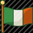ireland, flag, ireland flag, country, national, saint patrick, irish